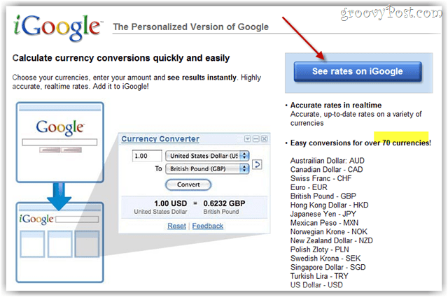 igoogle currency converter gadget installer