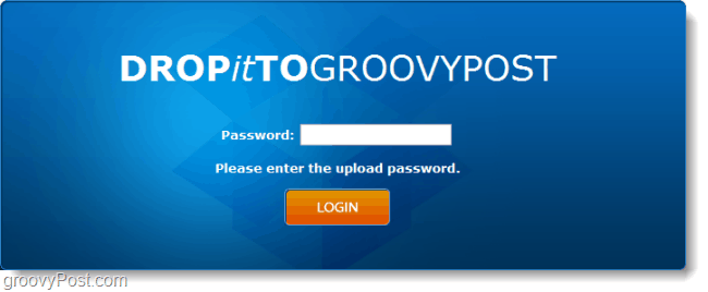 password protected dropbox url