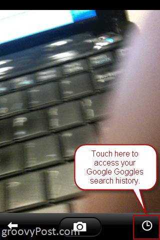 Remove Google Goggles Search History iPhone