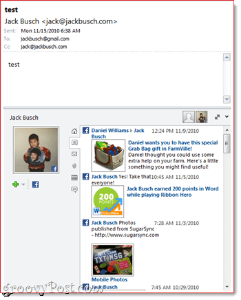 Outlook Social Connector and Facebook