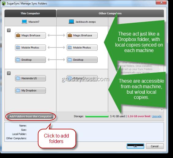 SugarSync Folder Manager