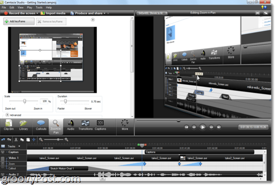 Camtasia 7.1 Review: Zoom n pan