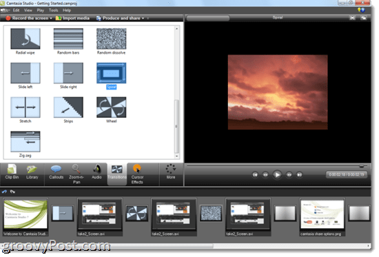 Camtasia 7.1 Review: Transitions and Title Clips