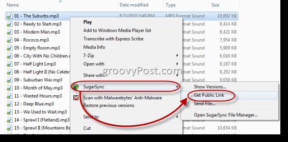 Folder sharing with SugarSync