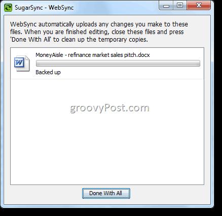 SugarSync WebSync