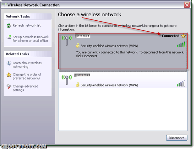 wireless network config windows xp