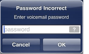 How do i reset my iphone voicemail password