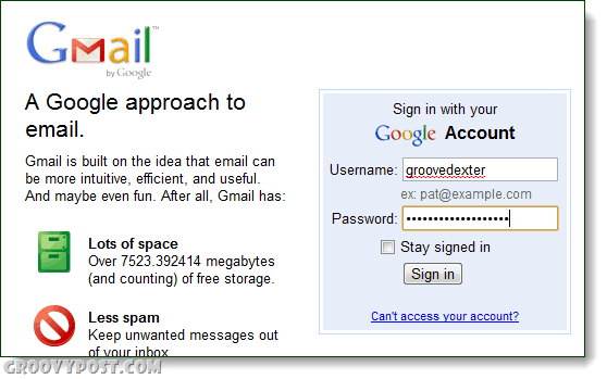 Gmail an approach to email login