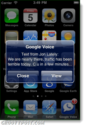 google voice push