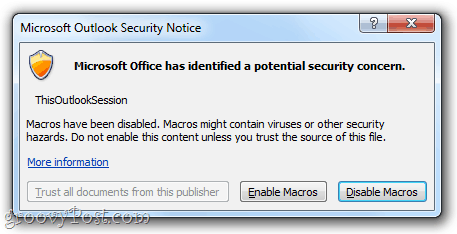 how to get rid of security risk warnings