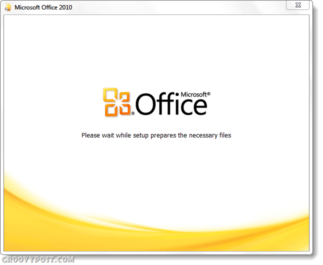 Office 2010 installer screenshot