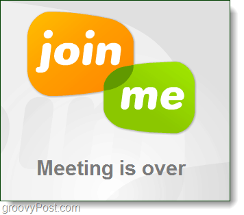 the meeting is over, join.me