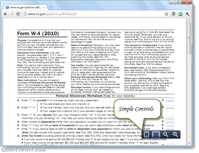 Chrome 8 pdf viewer screenshot