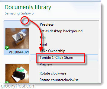 1 click tonido file share