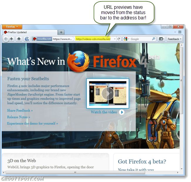 firefox 4 beta screenshot