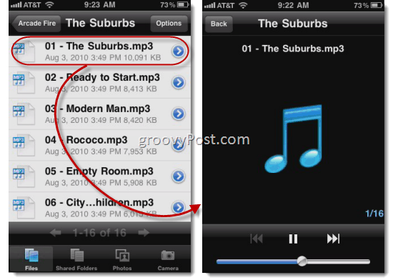SugarSync Mobile Music Streaming