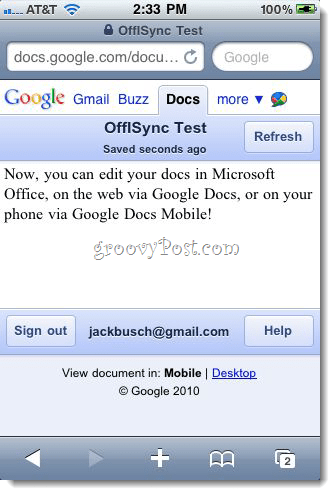 OffiSync: Sync Google Docs with Office 2010