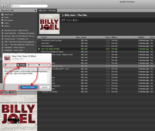 spotify sharing playlists
