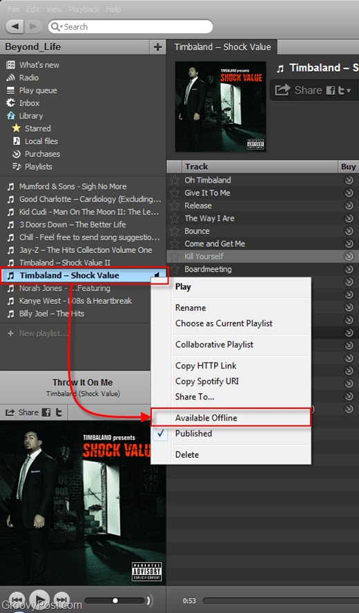 make files available offline spotify