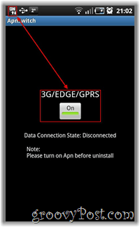Android ApnSwitch 3G / Edge / GPRS / On Off Switch