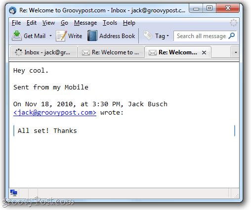 Remove Thunderbird Message Header