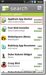 Android Appbrain Search