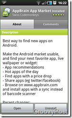 Android Appbrain Search Market