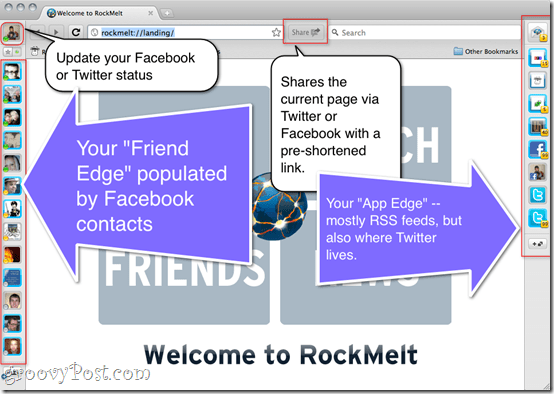 RockMelt Review - Social Media Web Browser