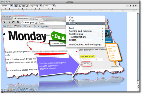 Snagit for Mac Paste to TextEdit