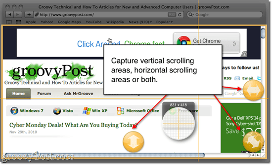 Snagit for Mac Scrolling Capture