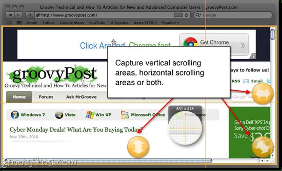 Snagit for Mac Scrolling Capture