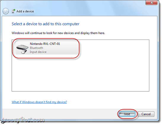 Sync Wii Remote to Windows 7