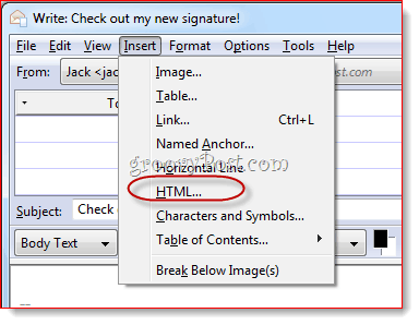 Create HTML Signature in Thunderbird`