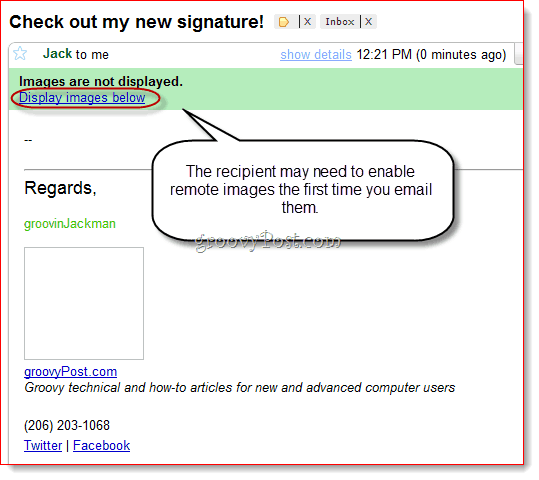 Create HTML Signature in Thunderbird
