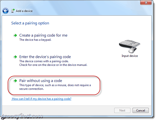 Pair Wii Remote to Windows 7 Bluetooth