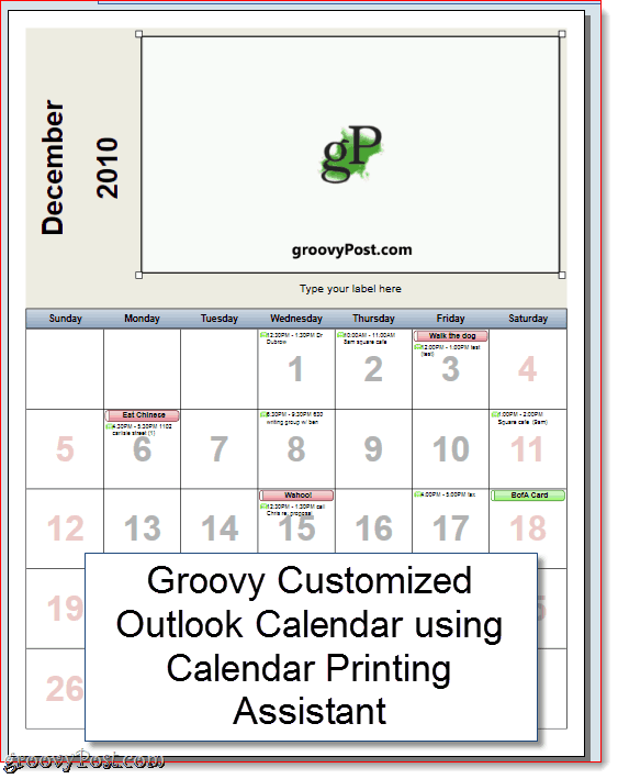 How to print overlain calendars in outlook with calendar for Calendar printing assistant templates