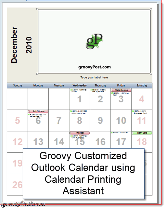 Calendar Printing Assistant Outlook 2010