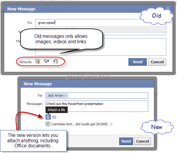 Share Microsoft Office Files with the New Facebook Messages (Word