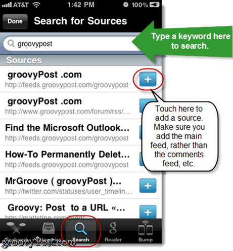Featured Sources Pulse iOS