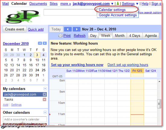 Sync Google Calendar to Outlook 2010