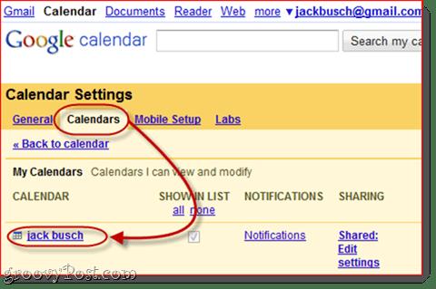 Sync Google Calendar to Outlook 2010`