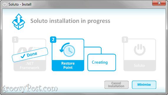 soluto system restore point