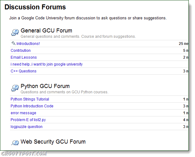 Google edu forum