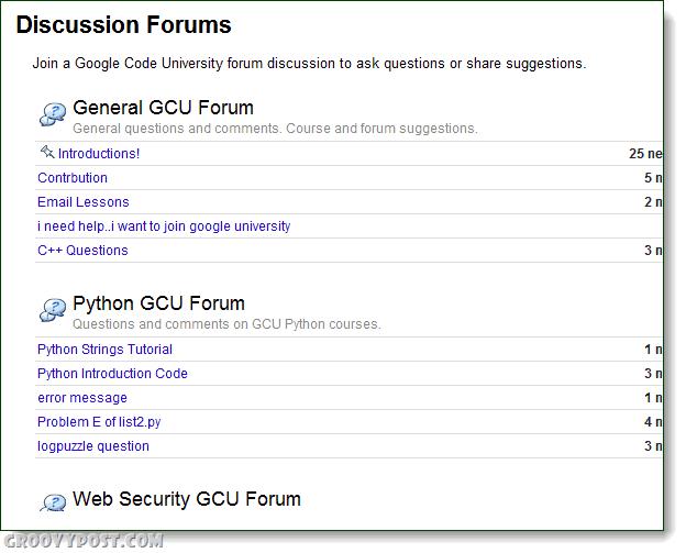 Google edu forum