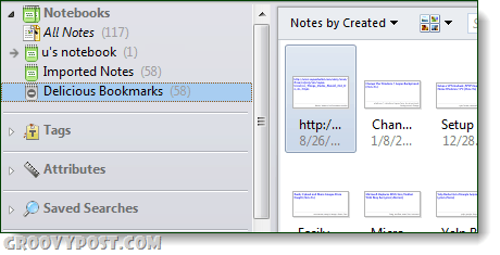 imported notebooks in evernote