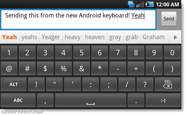 the new android 2.3 gingerbread keyboard on a android eclair or froyo phone