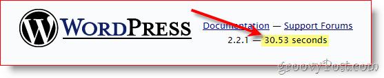 Slow WordPress Admin Pages screenshot