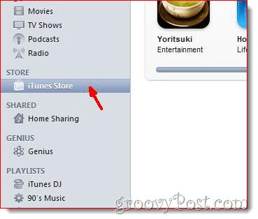 iTunes - Click iTunes Store