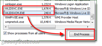 end process of windows live id sign in assistant