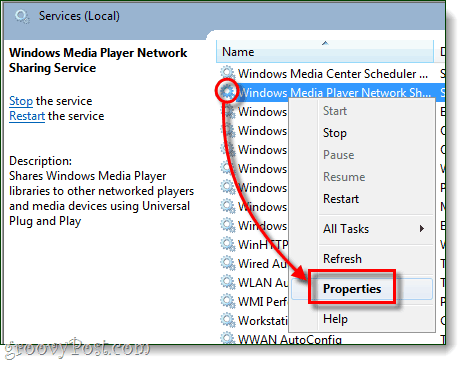 windows media player properties